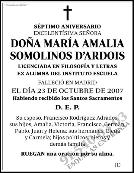 María Amalia Somolinos D´Ardois